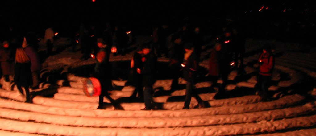 winter solstice on the labyrinth