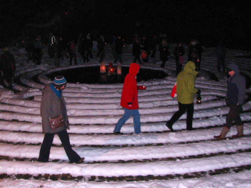 labyrinth on solstice